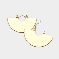 Half Round Metal Disc Pin Catch Earrings