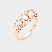 Rose Gold Plated Cubic Zirconia Ring