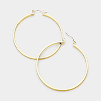 14K Gold Filled Metal Hoop Pin Catch Earrings
