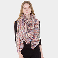 Check Patterned Square Scarf