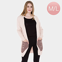 Pockets in Front Detail Soft Cardigan