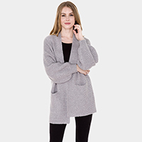 Pockets in Front Detail Soft Knit Cardigan