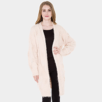 Soft Furry Long Cardigan