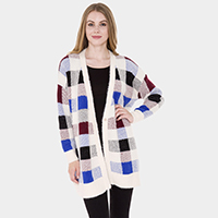 Plaid Check Cardigan
