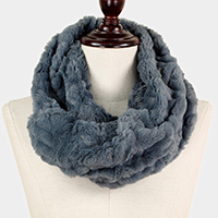 Furry Faux Fur Infinity Scarf