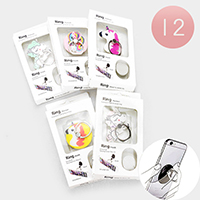 12PCS - Unicorn Cell Phone Ring Holder