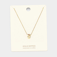 'S' Gold Dipped Metal Pendant Necklace