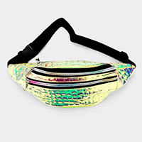 Crocodile Hologram Fanny Pack