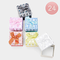 24PCS - Glittered Tile Bow Deco Jewelry Gift Boxes