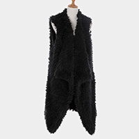 Fleece Open Vest