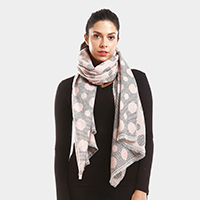 Double Sided Polka Dots Oblong Scarf