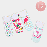 12Pairs - Flamingo Low Socks