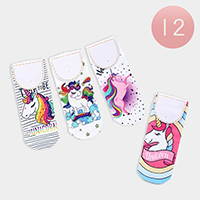 12Pairs - Unicorn Low Socks