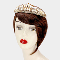 Oval Crystal Cluster Pageant Queen Tiara