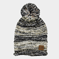 Pom Pom Cable Knit Beanie Hat