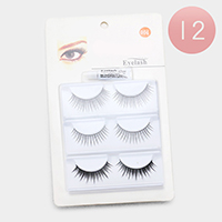 12Pack - Soft Natural Fake Eyelashes Multi Pack