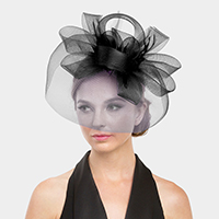 Mesh Loopy Flower Fascinator / Headband