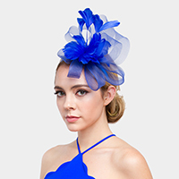 Loopy Mesh Feather Fascinator / Headband