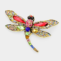 Crystal Pave Dragonfly Pin Brooch / Pendant