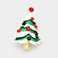 Crystal Christmas Tree Pin Brooch / Pendant