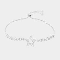 Cubic Zirconia Star Cinch Evening Bracelet