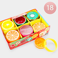 18PCS - Crystal Fruit Slime Kids Toy