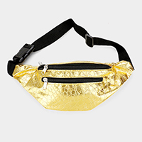 Patterned Metallic Fanny Pack
