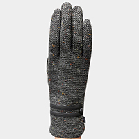 Retro Double Strap Accented Gloves