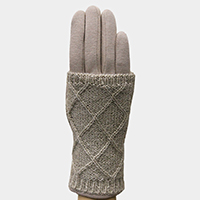Diamond Knit 2-Way Gloves Set