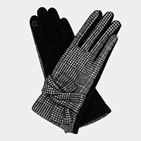 Glen Plaid Check Bow Bundle Accent Touch Gloves