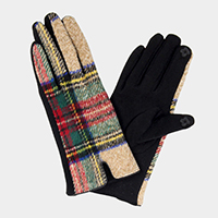 Tartan Smart Touch Gloves