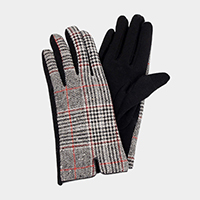 Glen Check Smart Touch Gloves