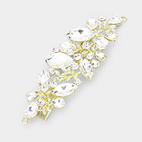 Crystal Pave Leaf Hair Comb
