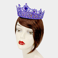Oval Crystal Accented Pageant Queen Tiara