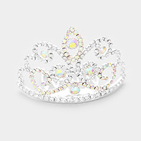 Crystal Rhinestone Pave Princess Mini Tiara