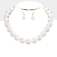 Lucite Beaded Collar Necklace