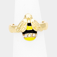 Crystal Honey Bee Stretch Ring