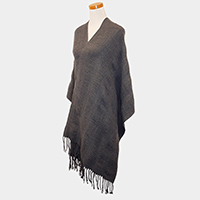 Rugged Solid Tassel Shawls