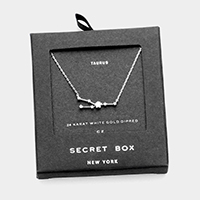 Secret Box _ CZ Zodiac Sign Taurus Pendant Necklace