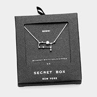 Secret Box _ CZ Zodiac Sign Gemini Pendant Necklace