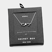 Secret Box _ CZ Zodiac Sign Scorpio Pendant Necklace