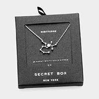 Secret Box _ CZ Zodiac Sign Sagittarius Pendant Necklace