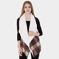 Sherpa Lined Plaid Vest