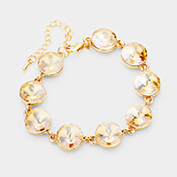 Marquise Crystal Round Link Evening Bracelet