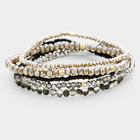 5PCS Multi Beaded Stretch Bracelets