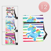 12PCS - Unicorn Print Crossbody Bags