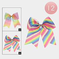 12PCS - Oversized Colorful Bow Hair Clips