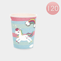 120PCS - Unicorn Printed Disposable Paper Cups