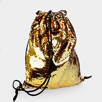 Reversible Sequin Drawstring Backpack Bag