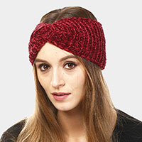Twisted Solid Knit Earmuff Headband
